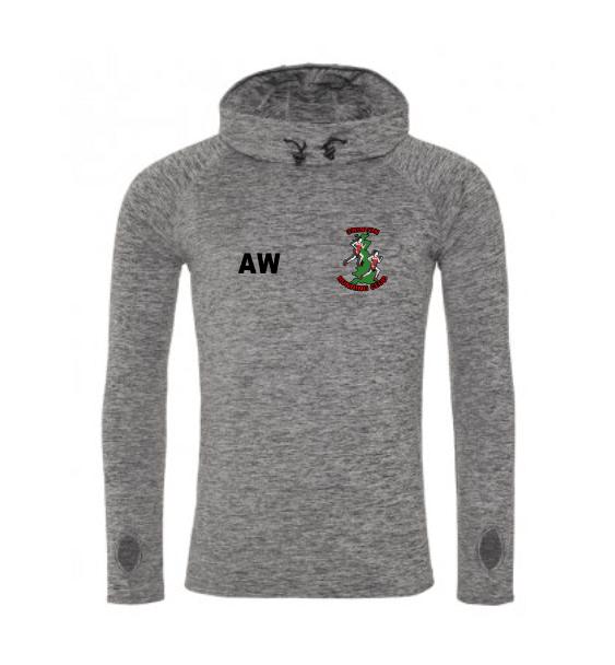 Cowl Neck Men's Grey Front