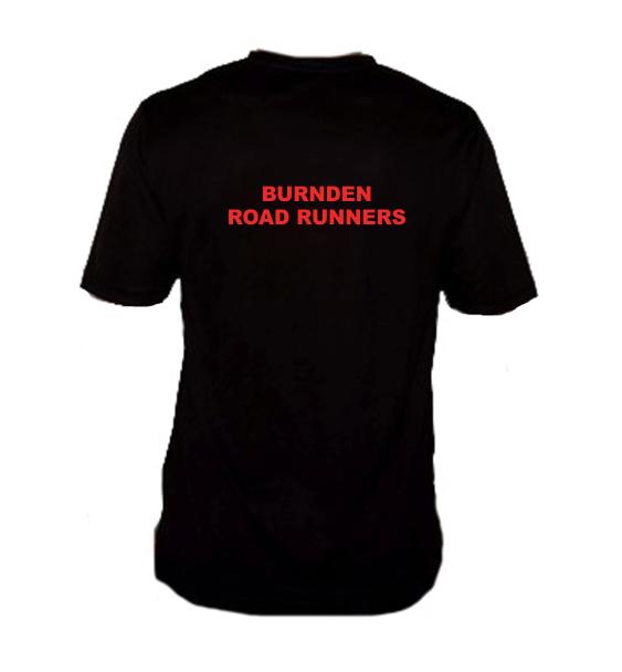 Burnden running club tshirt black back