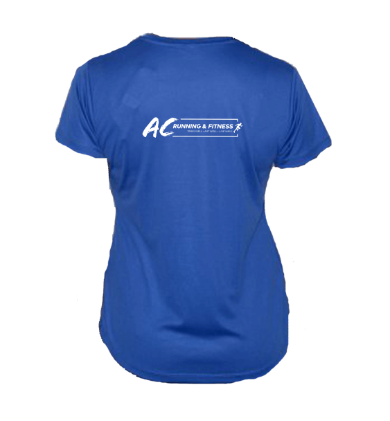 AC running ladies tshirt back