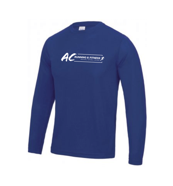 AC running long sleeve mens front