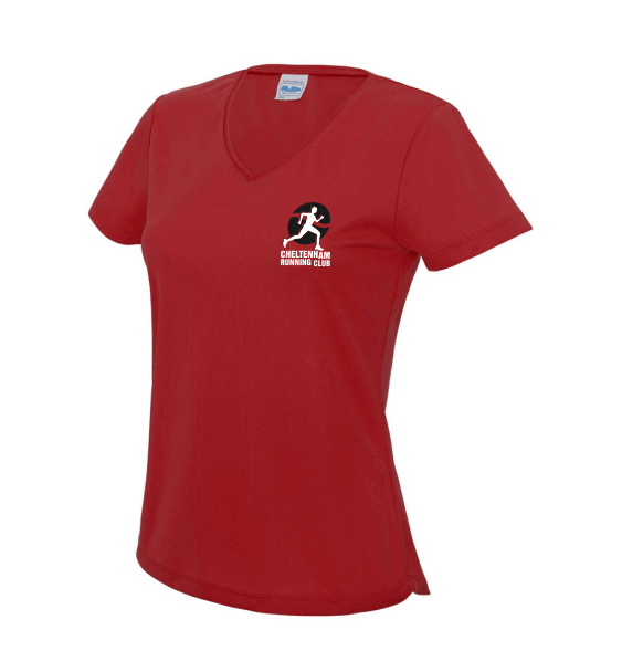 cheltenham-running-club-ladies-v-neck-front-red