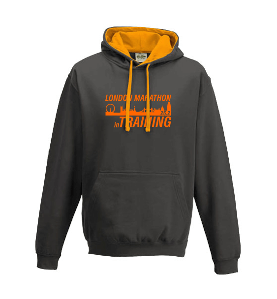 London Marathon Training charcoal hoodie