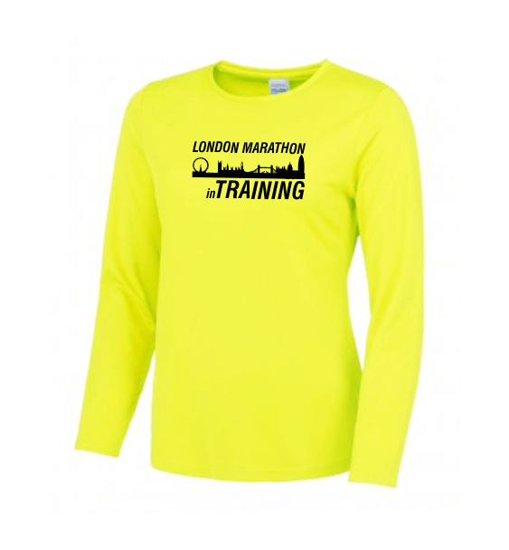 London Marathon Training long sleeve yellow