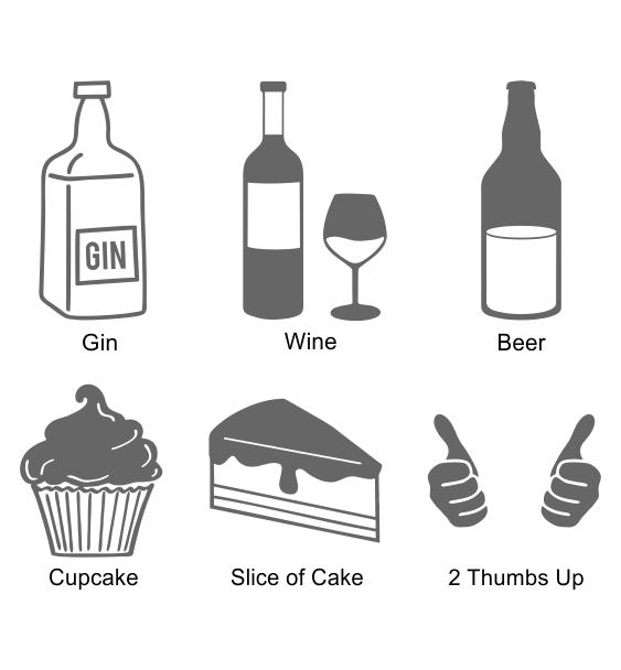 Reflective symbols 6