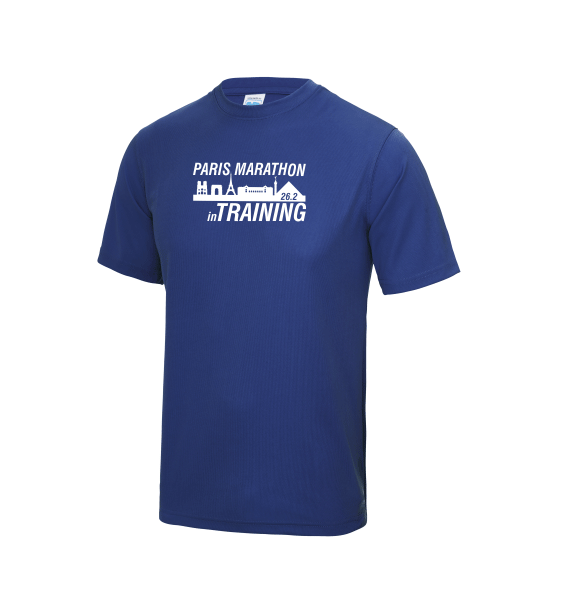 Paris-in-Training-Marathon-mens-tshirt-blue