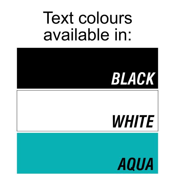 water bottle text colour
