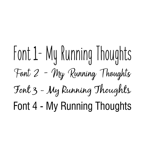 font-running-thoughts