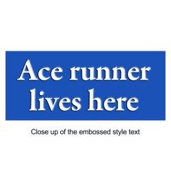 Running Heritage Plaque