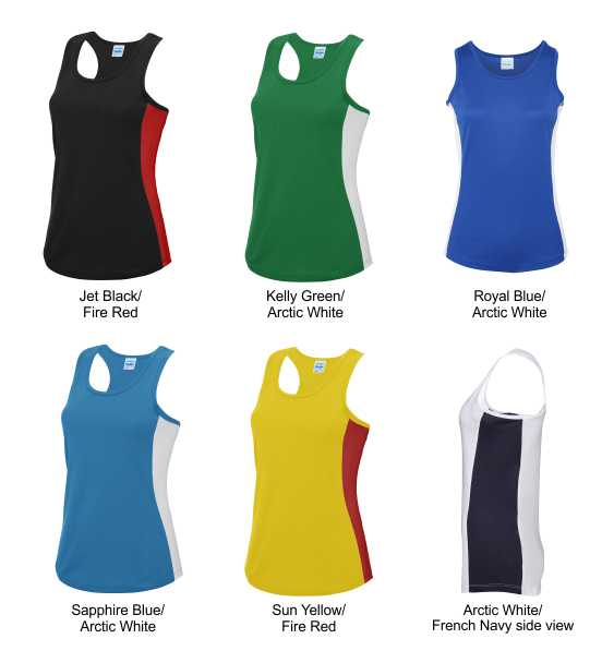 Ladies contrast vest colours 2