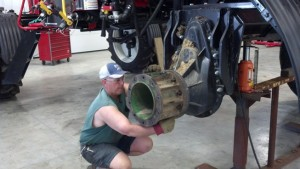 Putting Floater Tires on Sprayer