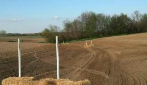 Seeded Waterway on Deer Farm