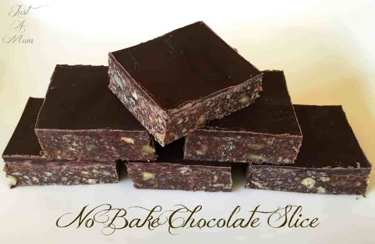 No Bake Chocolate Slice