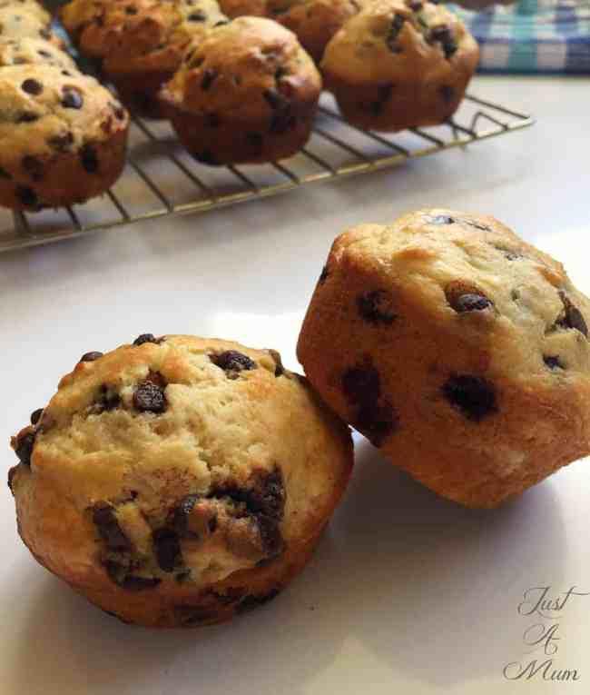 Just A Mum's Banana Chocolate Muffin