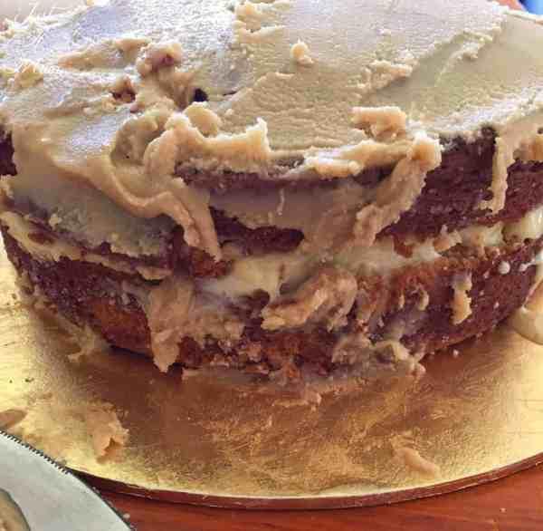 behind the scenes - delicious caramel mud cake