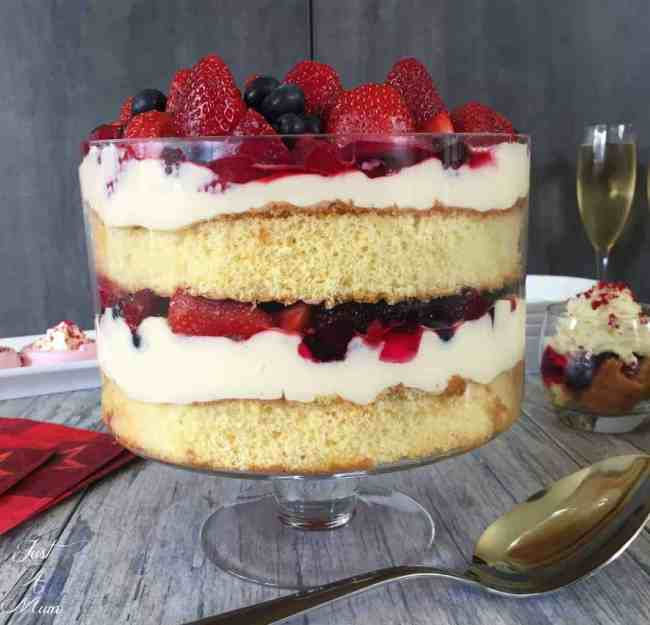 Mascarpone Custard Trifle - Just A Mum