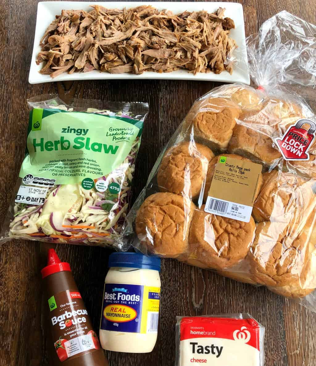 Ingredients for Pulled Pork Sliders Just A Mum