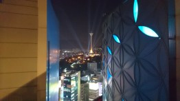 Looking back at the tower from the roof of Lotte Mall