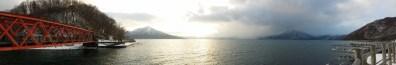 On the lakes of the beautiful Lake Shikotsu!