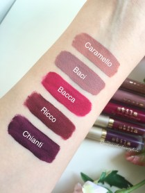Stila 5 swatches