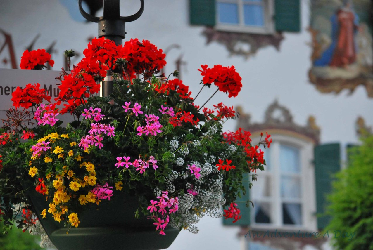 The beautiful flowers and elaborately painted houses make Oberammergau a truly special place to visit.