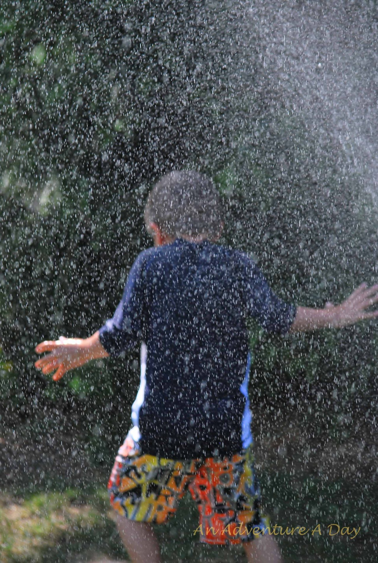 Temperatures were unseasonably warm, but the kids kept cool!