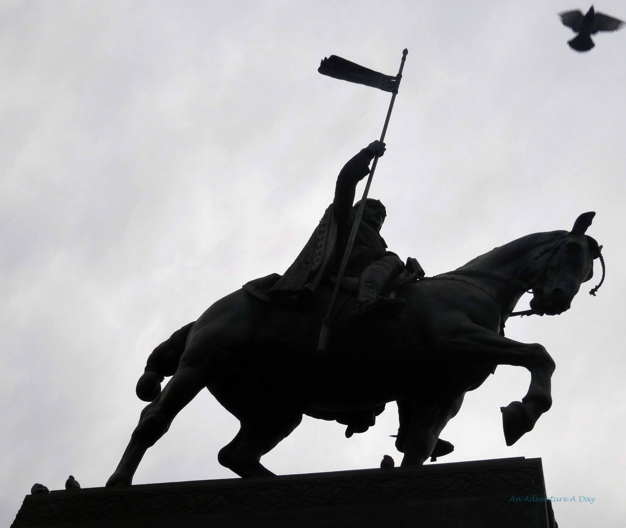 The statue of Wenceslas watches over the square, sight of many significant moments in history