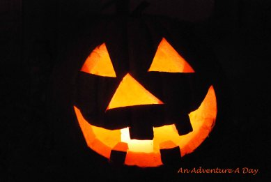 A reminder of one of our more successful Halloweens. With a Jack-O-Lantern.