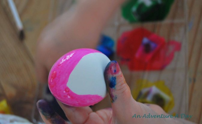 Dying eggs is another favorite tradition.