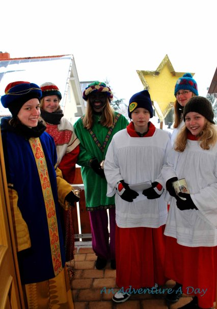 In Germany, we enjoyed a visit from the Three Holy Kings each Epiphany.