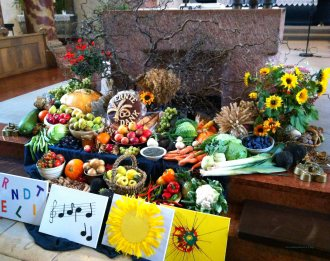 We celebrate Erntedank in October