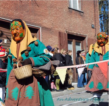 Groups travel from all over to participate in multiple parades and events throughout Fasching.