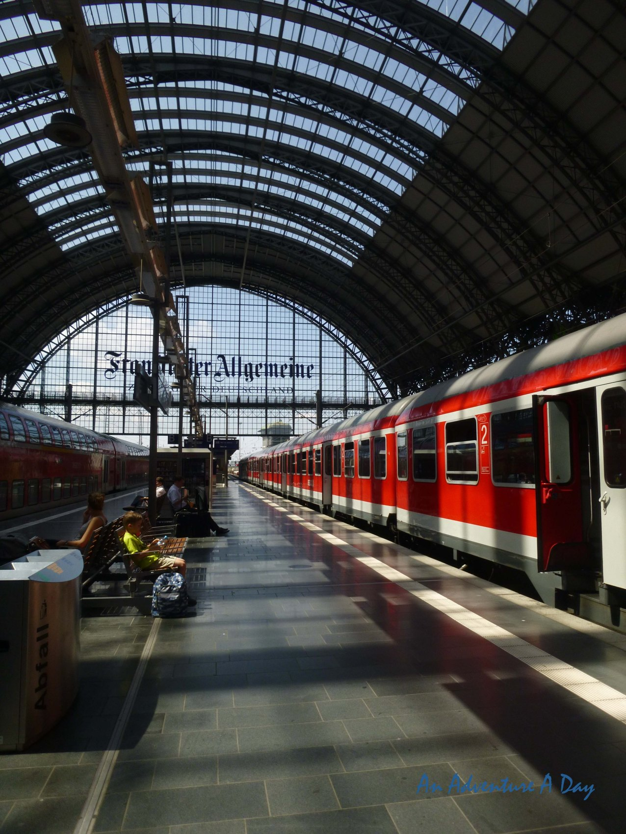 The Train Station in Frankfurt, built in the late 1800's is one of Germany's busiest train stations.