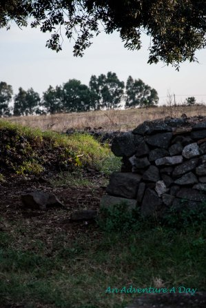 Stone fence along the Appia Antica