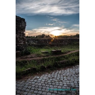 I love the glow of the sky at sunset, and being able to see it on the Appia Antica is another magical experience.