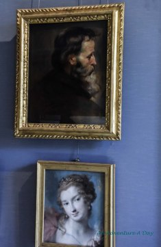 The top portrait is one of the small paintings by Rubens