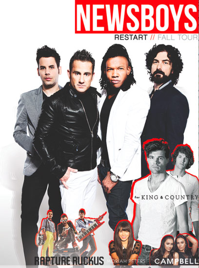newsboys retart fall tour 2013