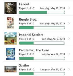 Remaining plays through May