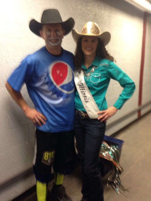 "Miss Rodeo Illinois with ""Jay Jay."""