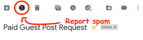 gmail spam report