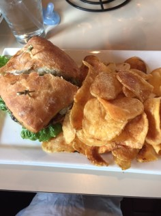 Lamb Burger with House-made Chips