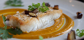 Wild Halibut with Coconut Curry Sauce