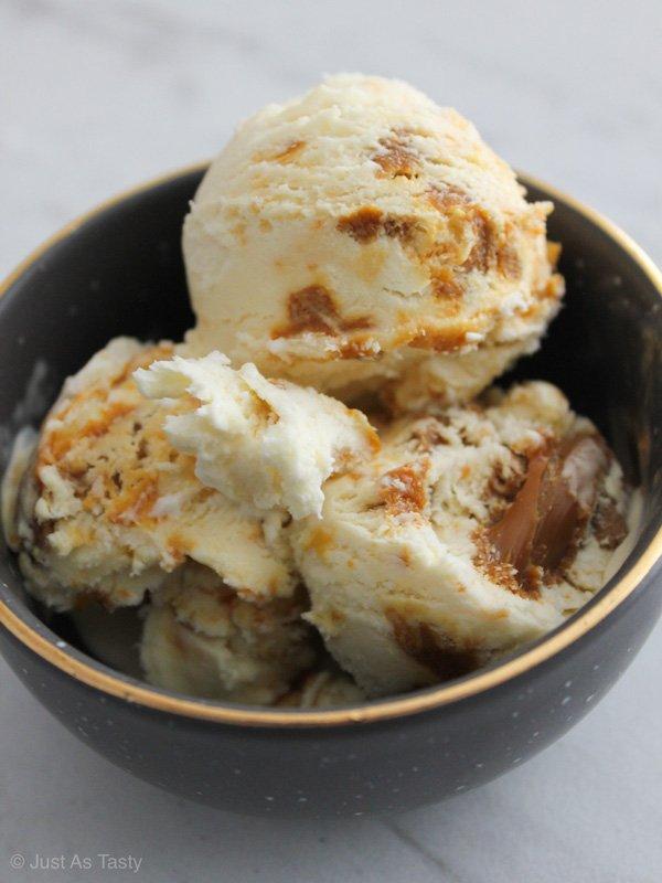 Salted Caramel Ice Cream – Gluten Free, Eggless