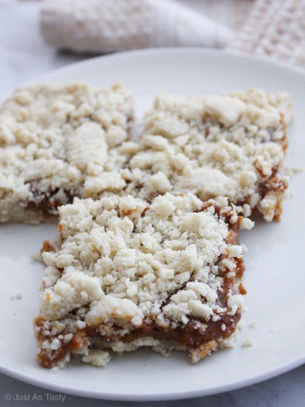 Caramel Cookie Bars – Gluten Free, Eggless