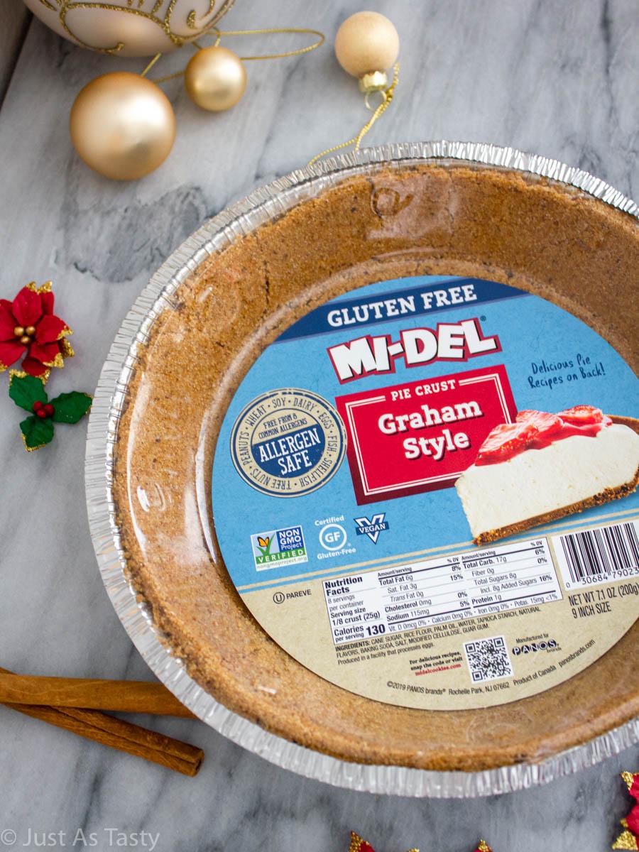 Mi-del graham cracker pie crust.