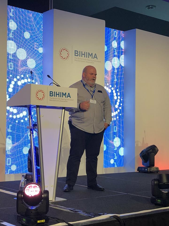 Geoff Cooling presenting at BIHIMA Conference 2018