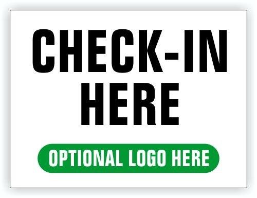Event Registration Area Sign