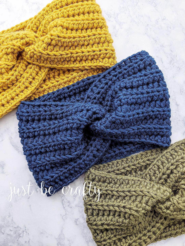 Head Warmer Headband : warmer, headband, Crochet, Twisted, Warmer, Headband, Crafty