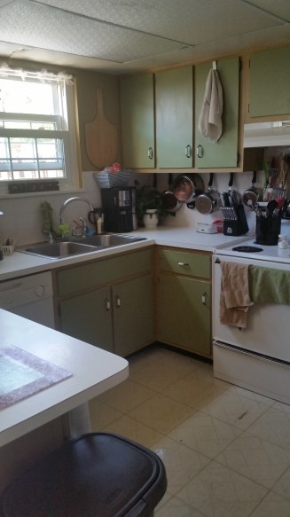 A clean kitchen calms me