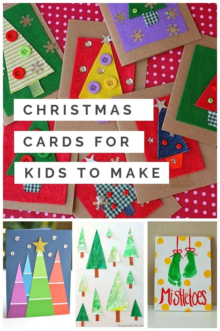 Homemade Christmas Cards For Kids That Will Totally Melt