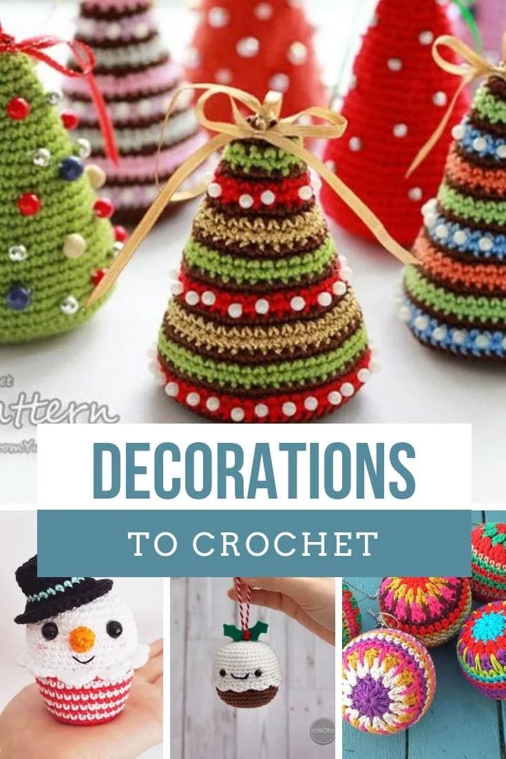 crochet christmas decorations make